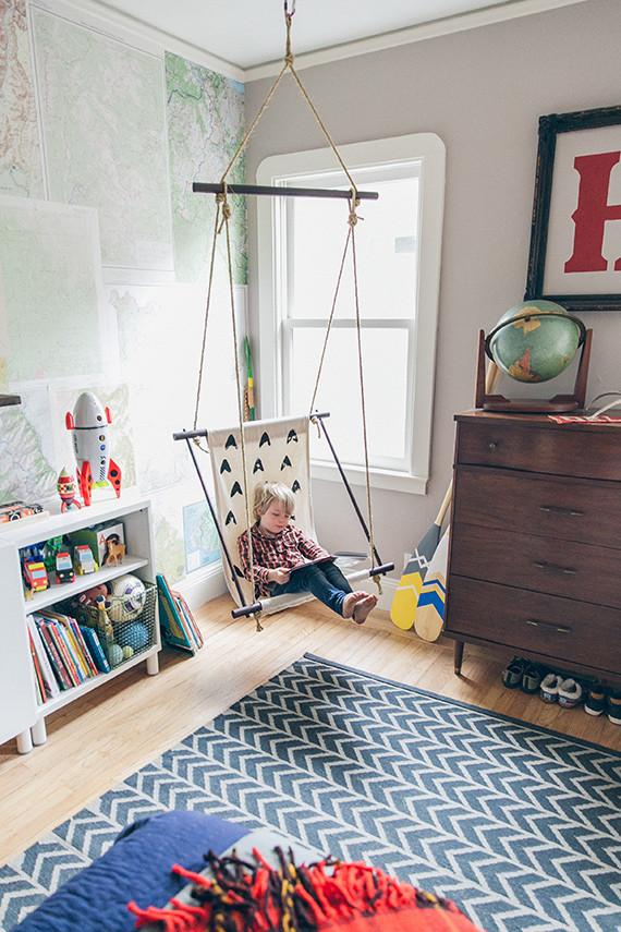 New Woodsy, modern boys room for Holden | Nursery + Kids Room Decor  WZ44