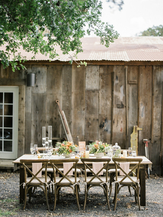 Rustic wedding tablescape