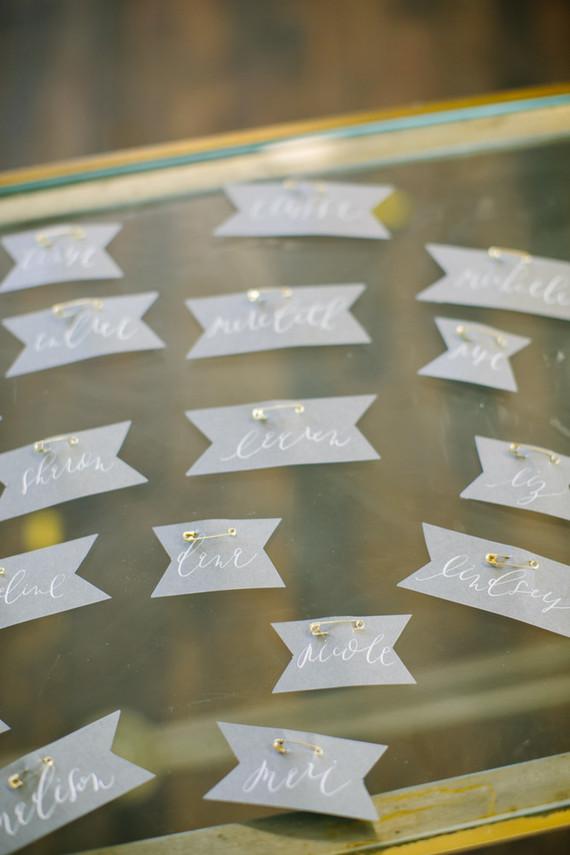 Calligraphy name tags