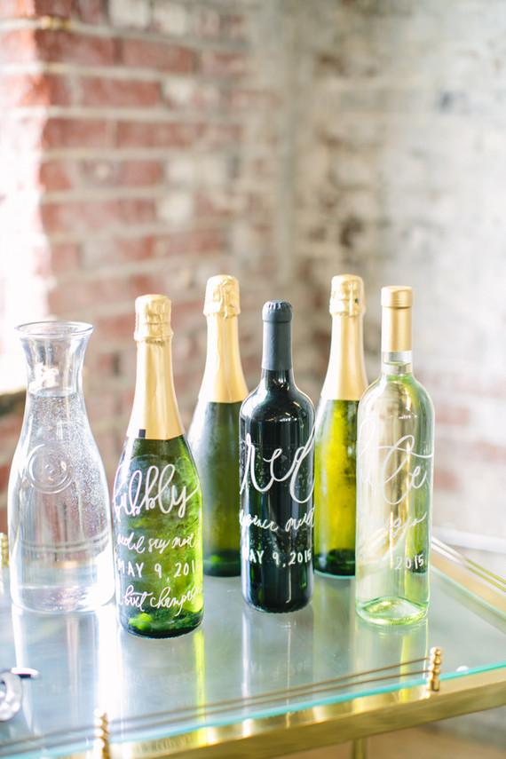 Calligraphy wine sings