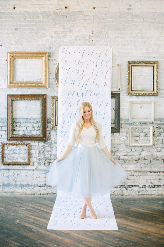 Calligraphy photo booth backdrop