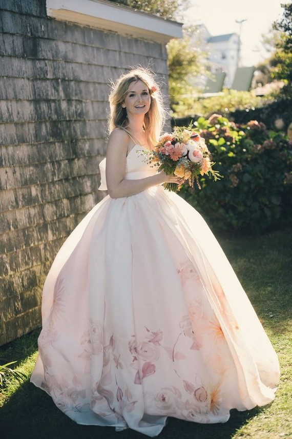 Floral wedding dress inspiration   Bridal gown   100 Layer Cake