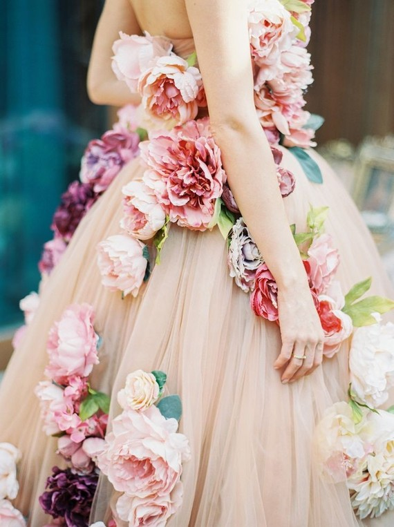Flower Floral Wedding Gowns : Floral wedding dress inspiration bridal gown layer