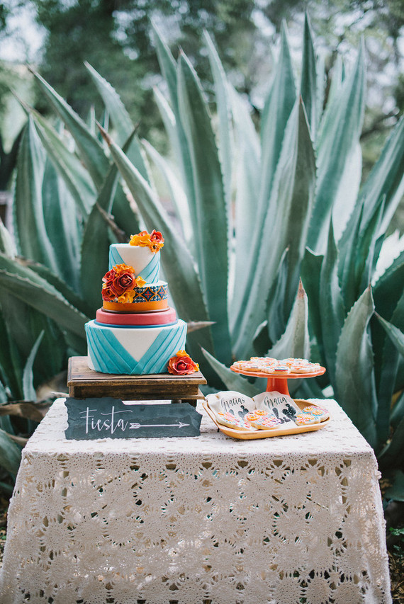 Frida Kahlo Wedding Inspiration Colorful Wedding 100 Layer Cake