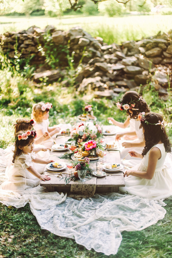 Flower girl picnic