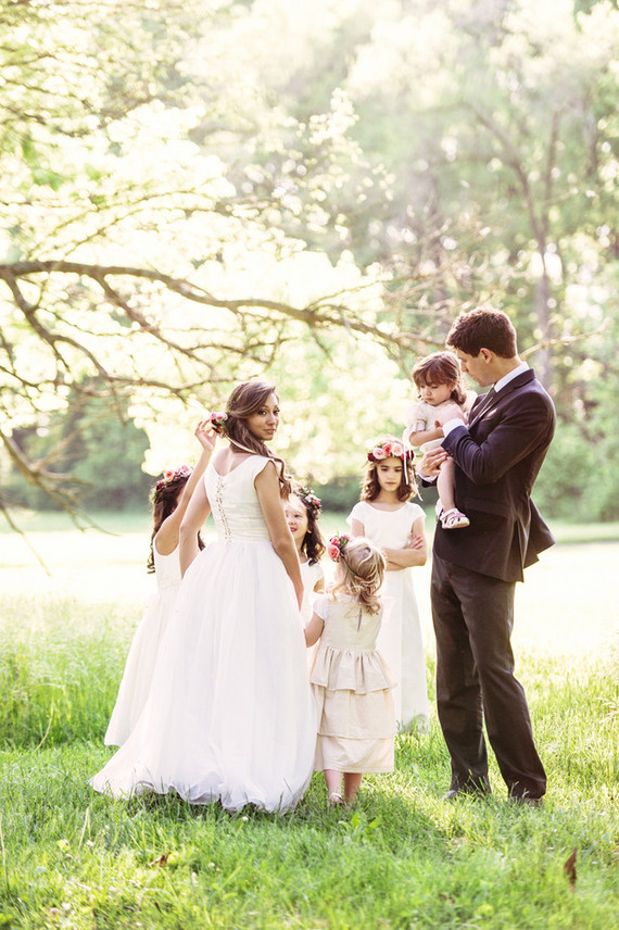 Flower girl family portraits