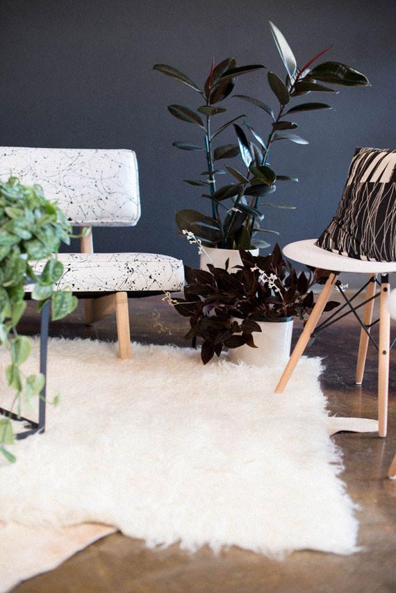Rustic modern wedding lounge