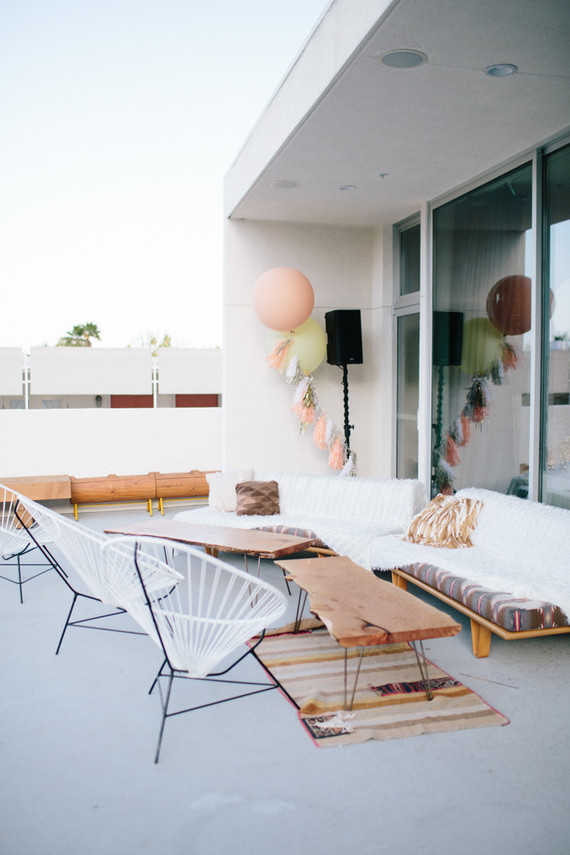 Mid century event furniture