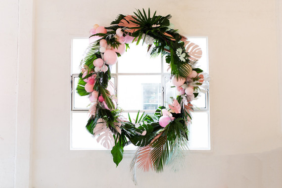 DIY tropical wreath