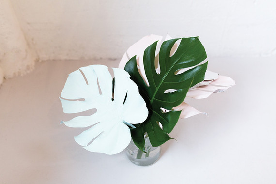 DIY painted foliage