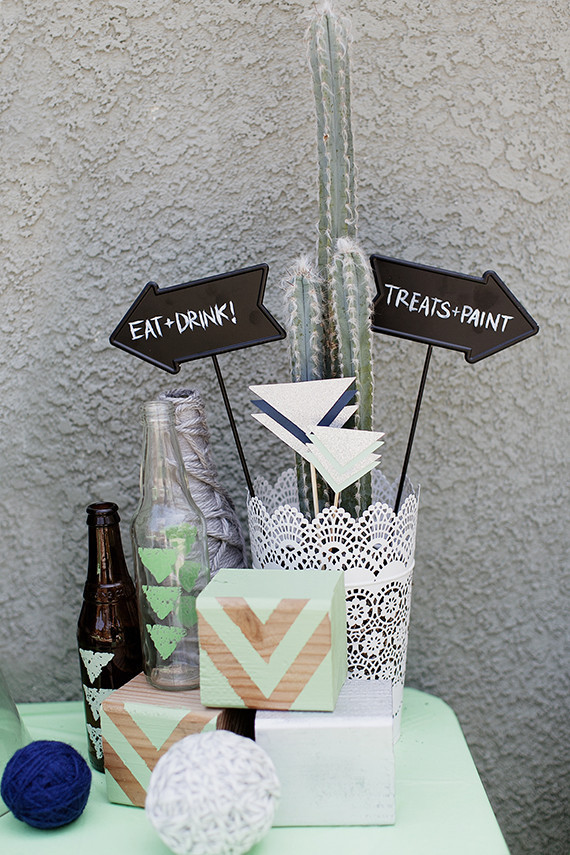 Modern mint baby shower by Mandilynn Photography