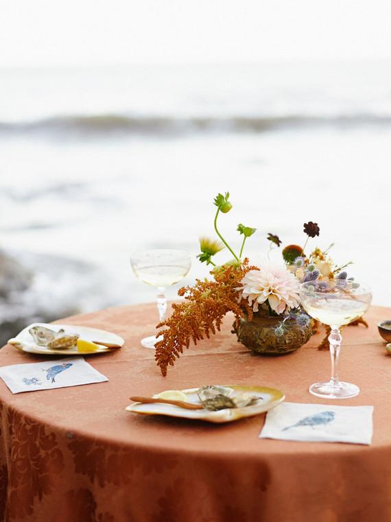Beach wedding tables cape