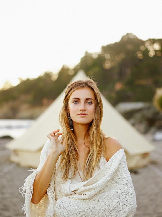 Beach bridal portrait
