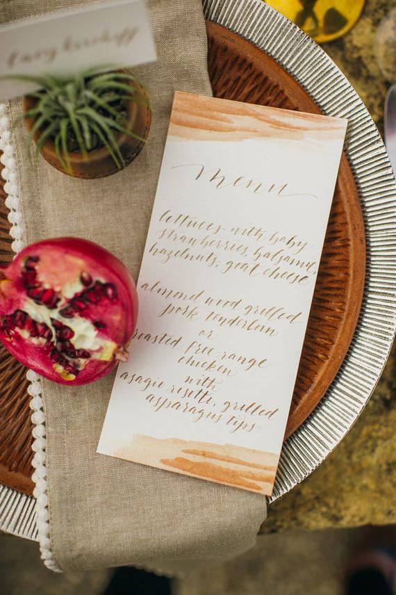 Hand-dip dyed menu
