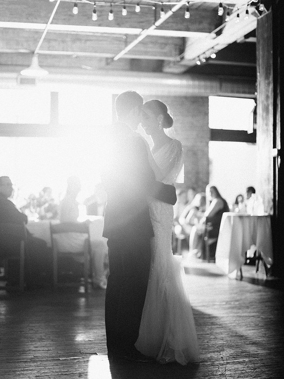 First dance portrait