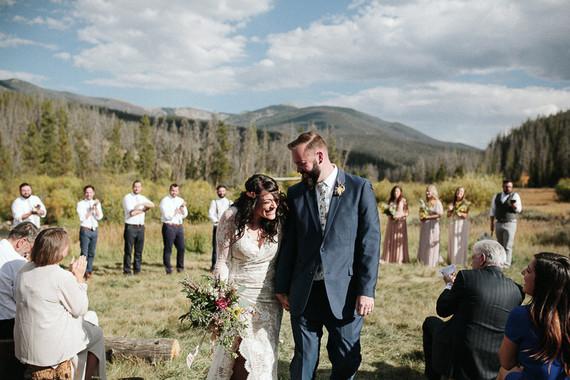Outdoor colorado wedding ceremony