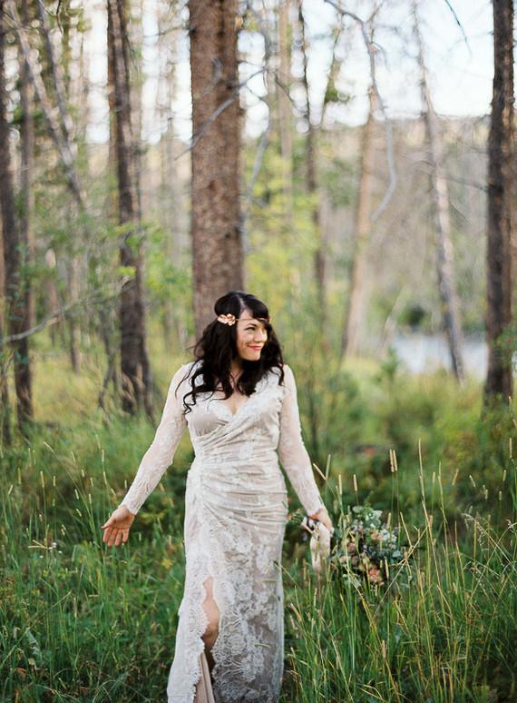 Colorado wedding bridal portrait