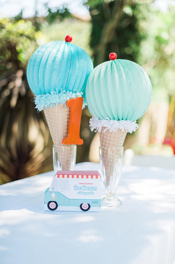 Ice Cream truck 1st birthday party