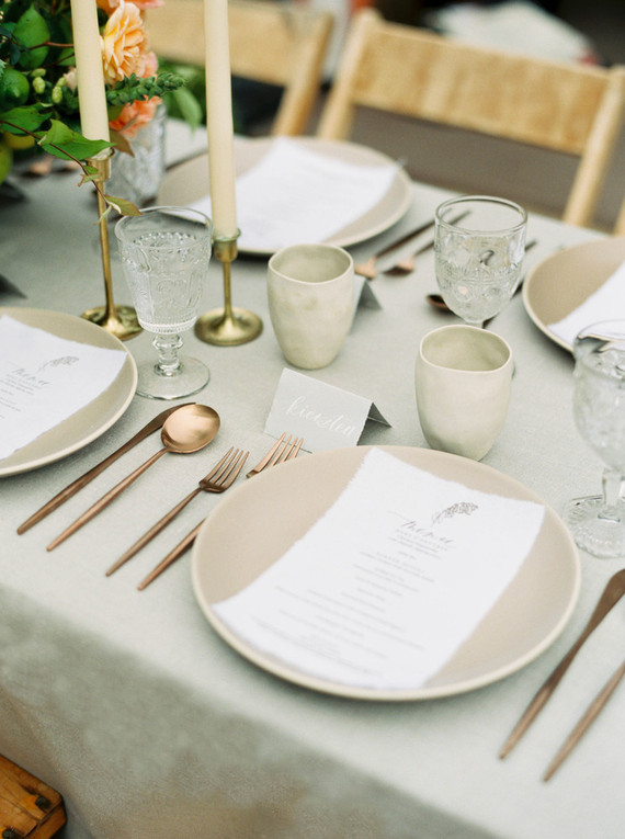 copper flatware