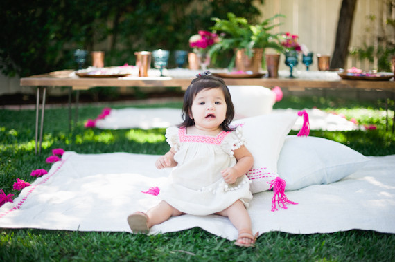 boho california backyard first birthday