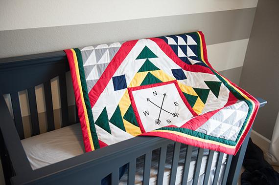 handmade primary quilt