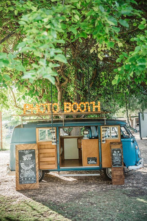 Boho photo booth