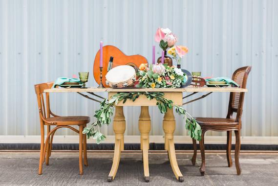 Boho wedding tables cape