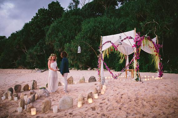 Indonesian island wedding ceremony