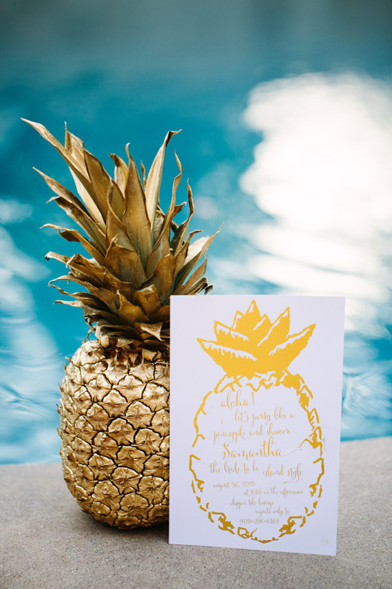 Pineapple bridal shower invitation