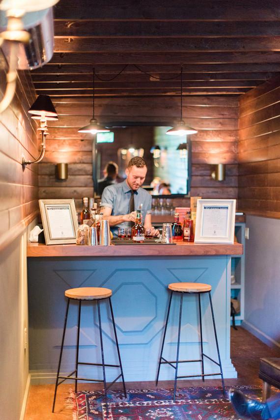 Modern wedding bar