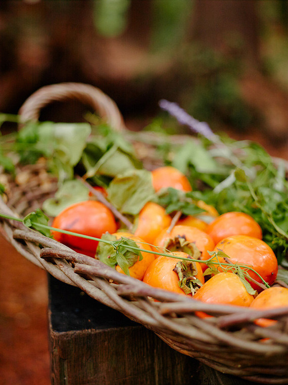 basket of persimmons