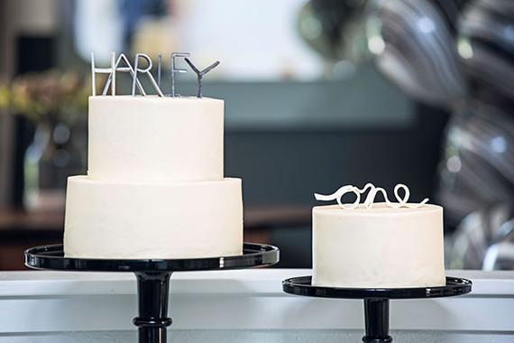 modern white cakes