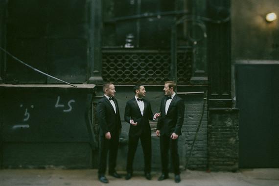 Modern groomsmen portrait