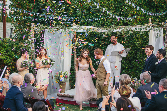 Whimsical wedding ceremony