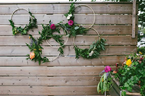 Bohemian floral wreath