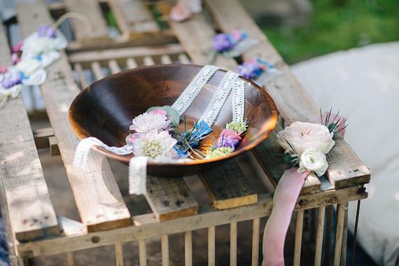 Floral wristlets