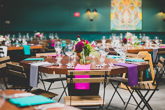 Colorful Fig House LA wedding