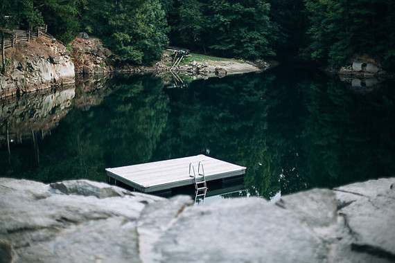 swimming hole in a rock quarry