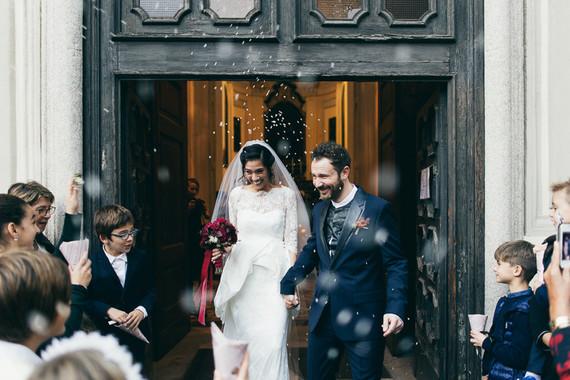 Romantic autumn Italian wedding