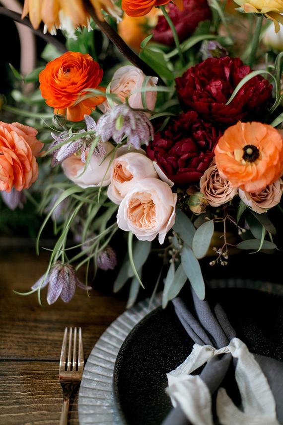 Fall jewel toned wedding inspiration