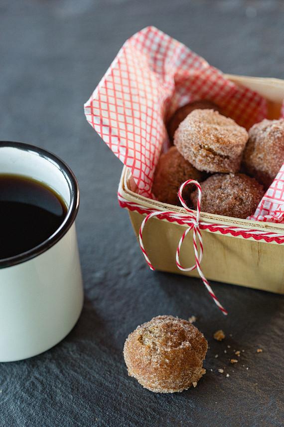 Mini fall donuts