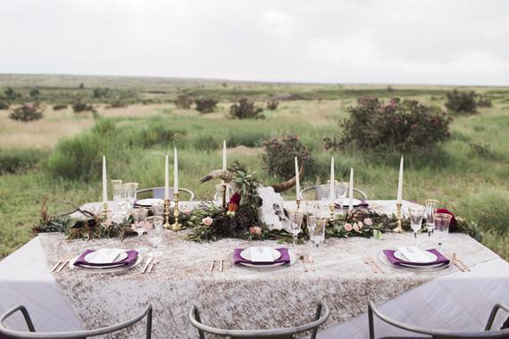 Bohemian wedding tablescape
