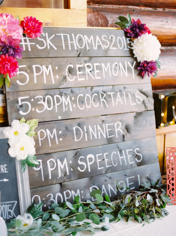Wooden wedding timeline