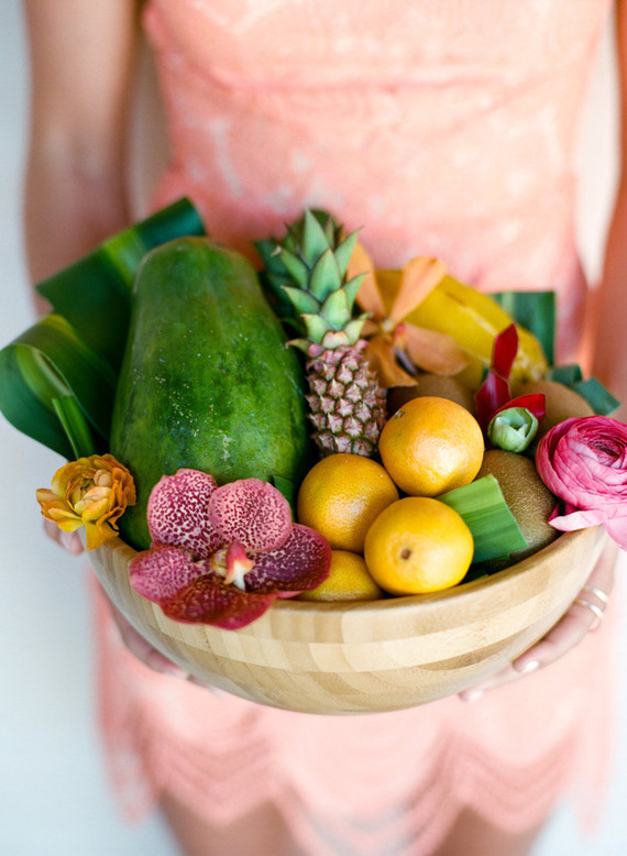 Tropical wedding fruit