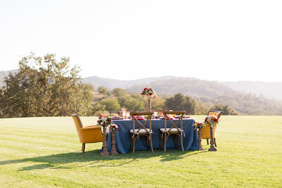 Romantic fall wine country wedding tablescape