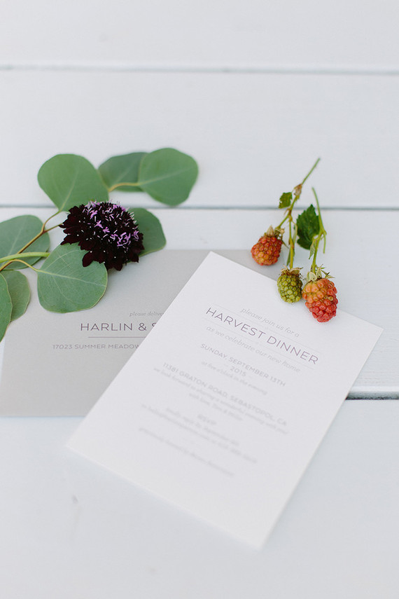 Harvest dinner party invitation