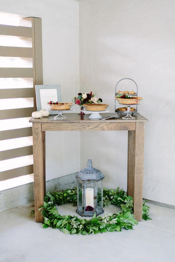 Harvest dinner party dessert table