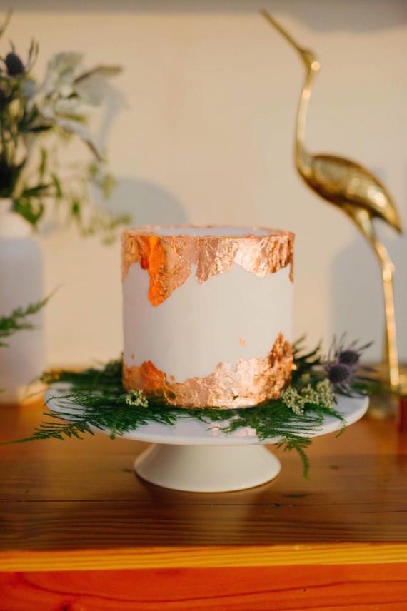 Copper foil wedding cake