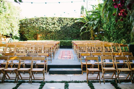 Casual Backyard Wedding Ceremony : Casual backyard wedding  Colorful wedding  100 Layer Cake