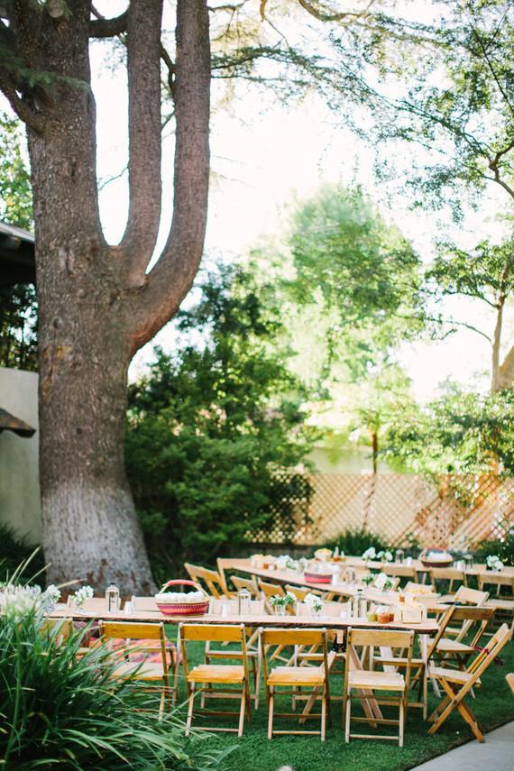 Backyard fiesta wedding reception